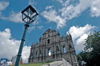 Portugiesische Kirchenfassade St. Paul
