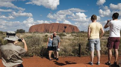 Fotostopp am Ayers Rock