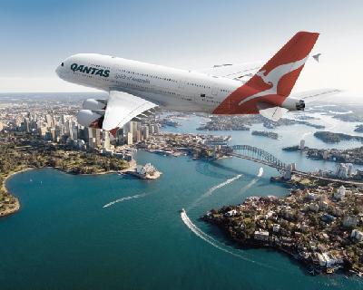 Qantas A380 über Sydney