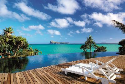 Pool auf Mauritius