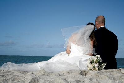Hochzeitspaar auf Mauritius