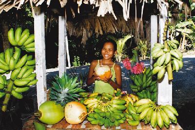 Marktstand auf den Seychellen