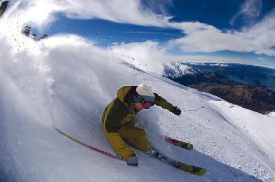 Beim Ski fahren
