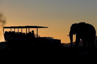 Pirschfahrt zum Sonnenuntergang