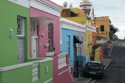 Farbenfroh, das Bo-Kaap Viertel