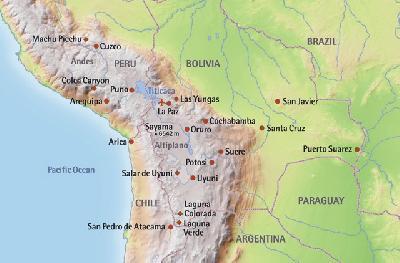 Landkarte Bolivien