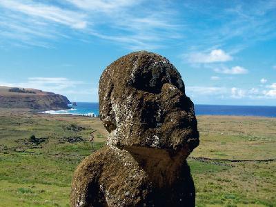 Der sitzende Moai