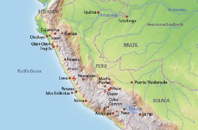 Landkarte Peru