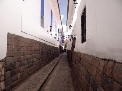 typische Gasse in der Altstadt von Cusco