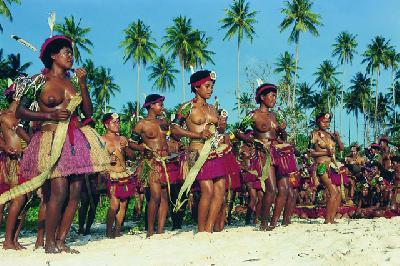 Tänzerinnen auf Trobriand Island