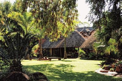 Gartenanlage der Amanzi Lodge.